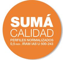 Sumá Calidad – Perfiles Normalizados 0,5 mm. IRAM IAS U 500 – 243
