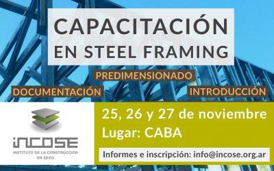 Último curso presencial sobre Steel Framing 2019. Inscripciones abiertas.