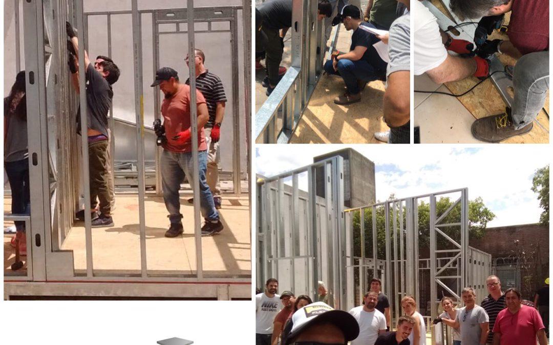 """Continúan las prácticas del """"Primer seminario de extensión universitaria integral de Construcción en Seco y Steel Framing"""" de Argentina"""