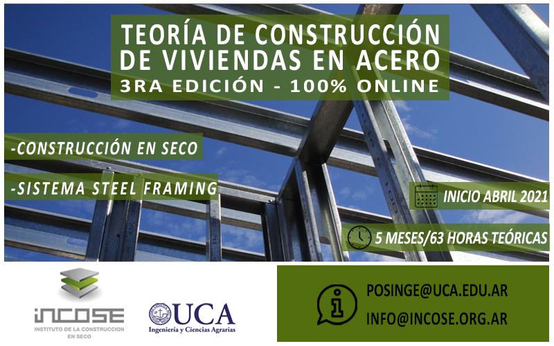 """Tercera edición """"Teoría de construcción de viviendas en acero""""."""