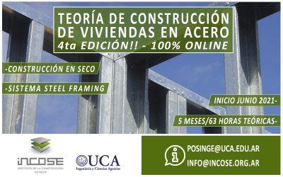 """Cuarta edición """"Teoría de construcción de viviendas en acero""""."""